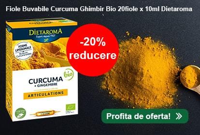 Fiole Buvabile Curcuma Ghimbir Bio 20fiole x 10ml Dietaroma